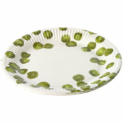 Pack of 8 Fun Festive Christmas Sprout Design Disposable Paper Plates