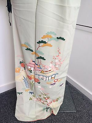 Authentic vintage handmade Japanese women's kimono, Japan import, silk (F290)