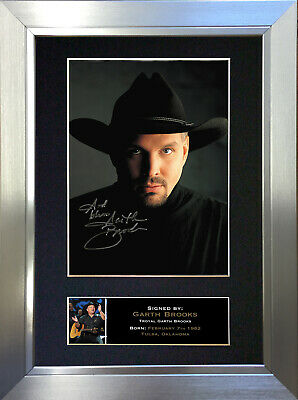 GARTH BROOKS Signed Autograph Mounted Photo Repro A4 Print 332
