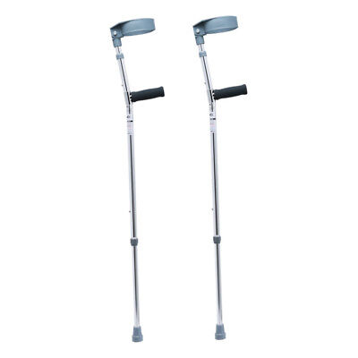 One Pair Ultralight Portable Adjustable Forearm Crutches Walking Stick Aluminium