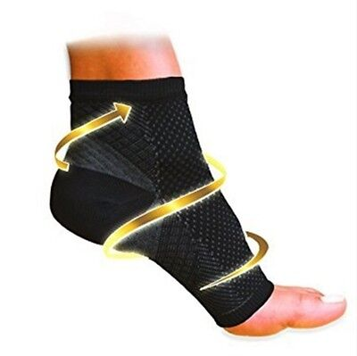 1Pair Men Women's Ankle Foot Sleeve Arch Heel Pain Relief Protector Unisex Set