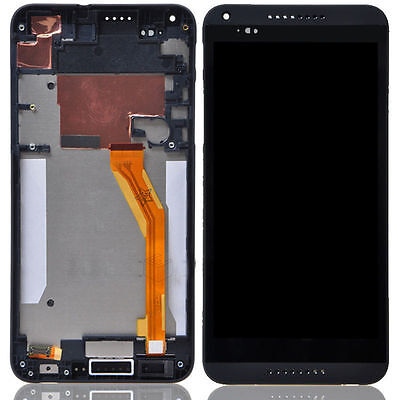 New Black  Touch Screen Digitizer LCD Display+Frame Assembly For HTC Desire 816