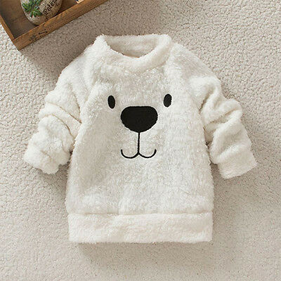 Baby Girls Toddler Cotton Coat Kids Winter Warm Sweater Pullover Jumper Outwear