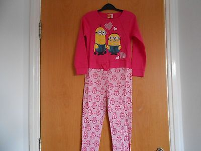 Girls Minions Despicable Me Pink Sleepsuit, BNWT, age 5-6, Lovely Gift!