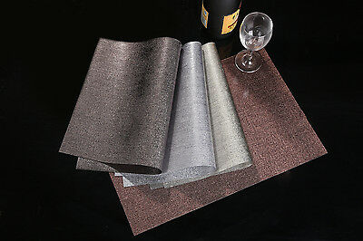 Waterproof! 4 x Dining Table Mat Pad Placemat PVC Insulation Tableware Fast Post