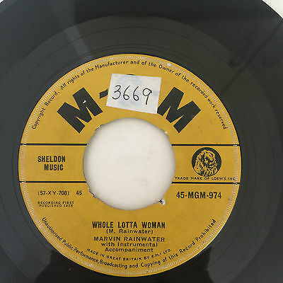 "Marvin Rainwater - Whole Lotta Woman - 1958 GT Britain - M.G.M - 7"" Single"
