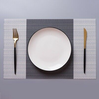 4 x Dining Table Mat Pad Placemat PVC Insulation Tableware AUS Stock Fast Post