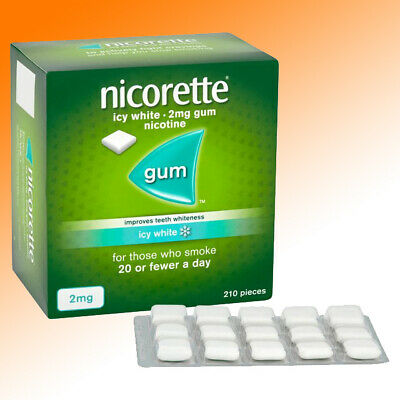 Nicorette Gum 2mg 210 Pieces Freshmint 1/3/6/10 packs 210/630/1260/2100 Gums