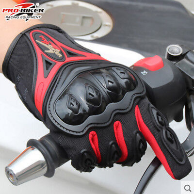 Touchscreen Motorcycle Motorbike Motocross Racing Riding ATV Full Finger Gloves