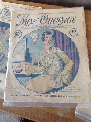 Mon Ouvrage French Vintage Craft Magazines Newspapers set of 6