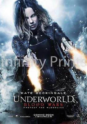 Underworld Blood Wars Movie Film Poster Various Sizes A2 A3 A4