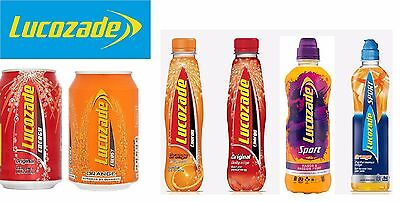 Lucozade Original Orange Sports & Many Flavours, Cans / Bottles *WholesalePrice*