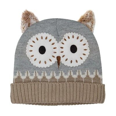 NEW Aroma Home Gorgeous Grey Owl Click & Heat Knitted Heatable Cosy Woolly Hat