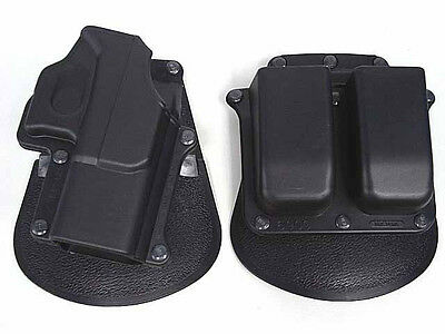 Hunting Tactical Gun Holster Double Magazine for Glock 17 19 22 23 31 32 34 35