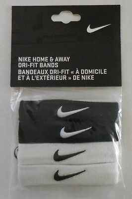 Nike DRI-FIT Home & Away Bands Black/White Adult Unisex - New