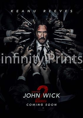 John Wick Chapter 2 Movie Film Poster Various Sizes A2 A3 A4