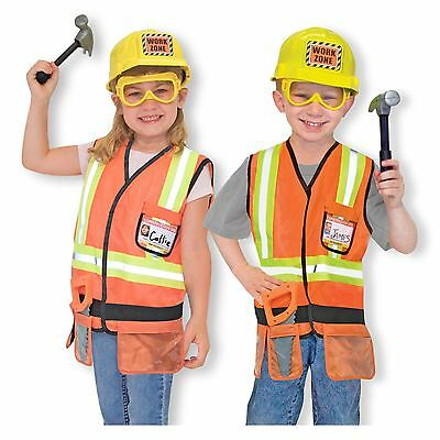 Boys Childrens Builder Construction Worker Fancy Dress Costume Outfit Age 3-6