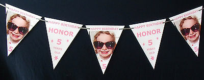 Paper Bunting - Hand Crafted - Personalised With Photo For Birthday Celebrations