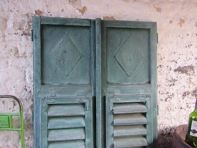 Vintage Wooden French Shutters Rustic Window Shutters Free Post Pair Original