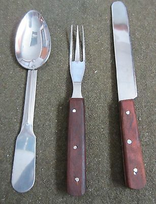 Civil War Csa Us Union Confederate Mess Eating Utensils Fork, Spoon & Knife