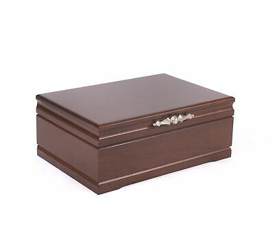 American Chest Sophistication Jewelry Box Chest Case Mahogany Solid Cherry Wood