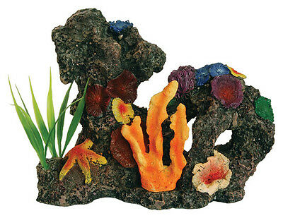 Coral Reef with Plant Aquarium Ornament Colourful Coral Fish Tank Decoration