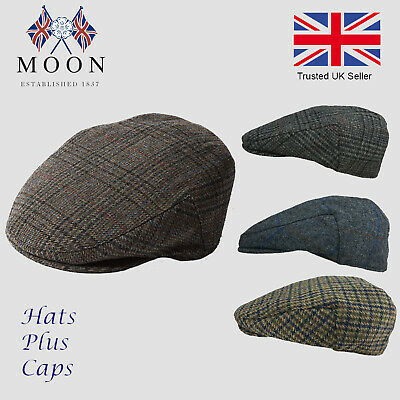 Failsworth Finest Quality English Tweed  Wool Traditional County Flat Cap Hat