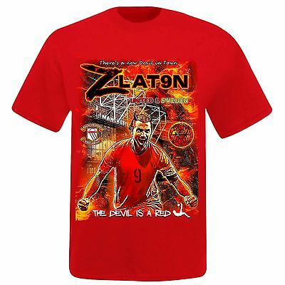Zlatan Ibrahimovic & Man Utd Super Striker T-Shirt