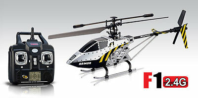 Syma F1 3.5CHl 2.4GHz Single Blade Remote Control RC Helicopter with Gyro Silver