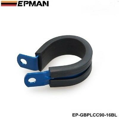 Epman blue hose separator clamp braided vaccum racing P Clamp 25.4 mm ID AN12