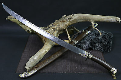 """High quality Chinese sword """"qing dao"""" blacksmithing pattern steel blade"""