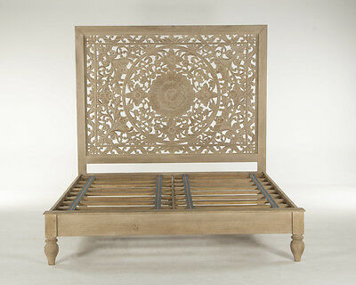 """80"""" Eastern Décor King size bed hand carved Moroccan carved spectacular"""
