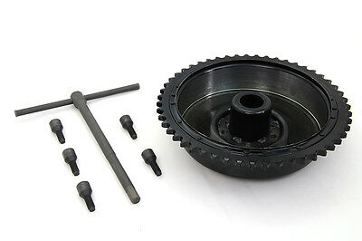 Rear Mechanical Brake Drum w Sprocket Bolts and Wrench replaces Harley 41400-37
