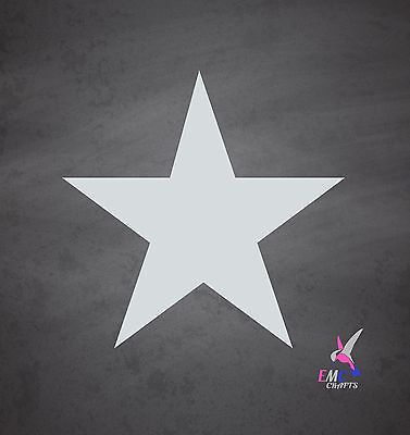 Mylar Star Stencil. Re-useable - Art Craft Home Decor. DIY Wall Painting.