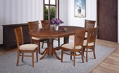 7 Piece Dinette Dining Room Table Set With Soft-Padded Seats In Espresso Finish