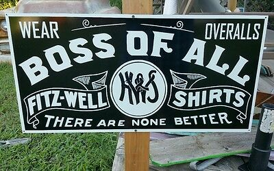 Antique Vintage Old Look Boss of All Clothing Sign.