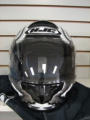 NEW OEM HJC CL-16 Shock Black//Silver//White Motorcycle Helmet FULL FACE 914-955