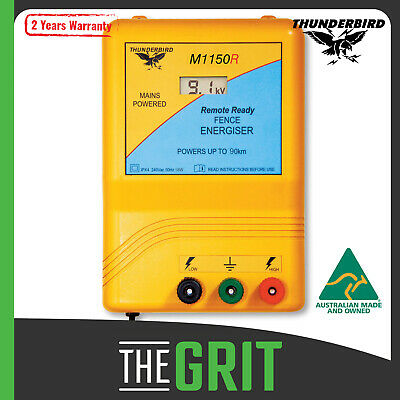 Thunderbird M1150R 90km Mains Electric Fence Energiser Charger