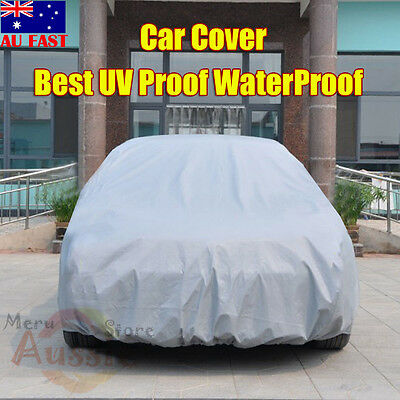 Universal Full Car Cover Anti Sun UV Dust Scratch Waterproof Resistant Protect