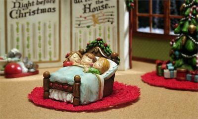 Fairy Garden Christmas Miniature - Night Before Christmas Sleeping Children