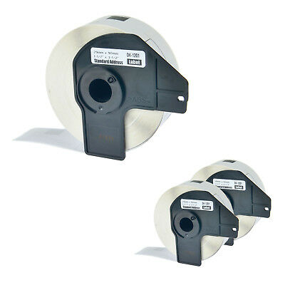 3 Roll DK1201 White Address Labels 400 Labels For Brother QL-500/580N w/3 Frame