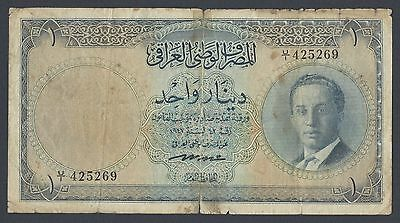 Iraq King One Dinar L.1947(1955) P39 Issued note