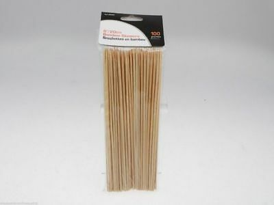 25 x 50 pack Bamboo BBQ skewers satay sticks 25cm x 4mm  Bulk Wholesale lot