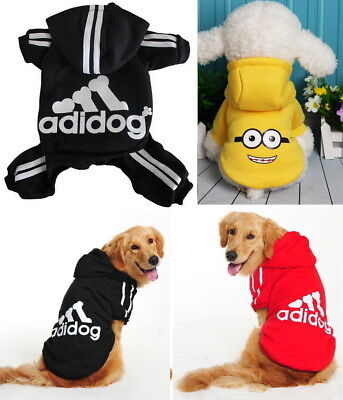 Puppy Small Large Pet Dog Clothes Sweater Jacket Shirt Vest Hoody Jumpsuit Dress