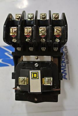 Used Square D Contactor 8501 H040  4 pole  with 208v coil  8501H040