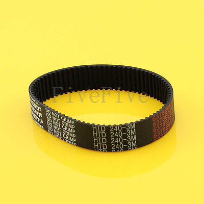 HTD3M-240 Synchronous Wheel Timing Belt 10mm 15mm Width 3mm Pitch 80 Teeth