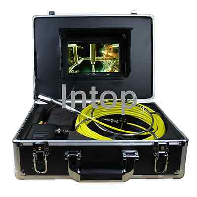 "7"" 30M 100ft Drain Sewer Waterproof Camera Pipe Pipeline Snake Inspection System"