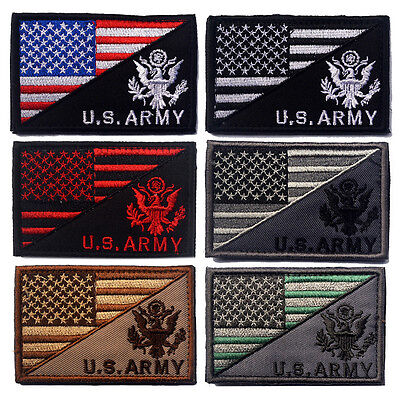 6 Pcs Usa Flag U.s. Army 3D Army Morale Badge Tactical Patches Hook & Loop Patch