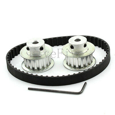 2pcs XL 17 Teeth Timing Pulley XL037 10mm Width Belt Set Kit Ratio 1:1 for CNC