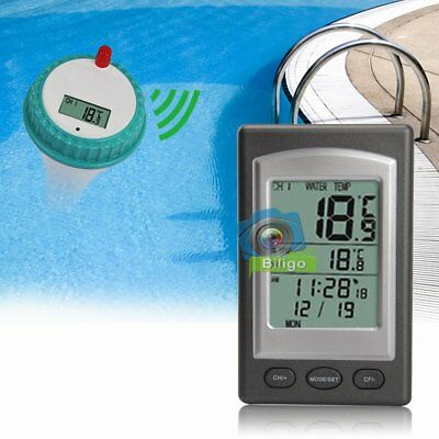 Remote Floating Wireless LCD Swimming Pool Spa Thermometer Temperature【UK】